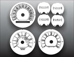 1966 Plymouth Barracuda Dash Cluster White Face Gauges 66