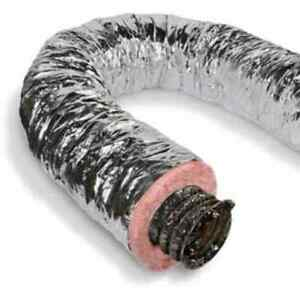 6 silver Flex Quietflex Insulated Flexible Duct R6