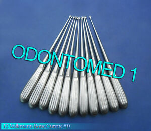 12 Medical Surgical Curette Bone Volkmann 0 Surgical Instruments
