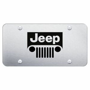 Jeep Brushed Chrome Stainless Steel License Plate