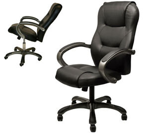 High Back Executive Top grade Black Leatherette Ergonomic Computer Office Chair