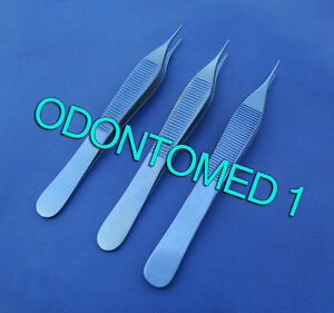 3 Adson Tissue Forceps 1x2 Titanium Surgical Instruments