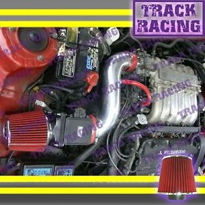 Red Air Intake Kit For 91 92 99 Mitsubishi 3000gt Gto Dodge Stealth N T 3 0l V6