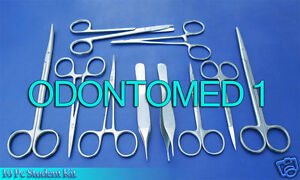 10 Pc Student Suture Surgical Pack Set Kit Instruments Ds 734