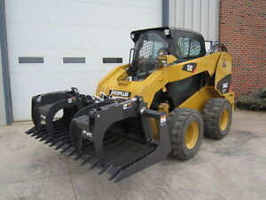Paladin Ffc 72 Skid Steer Loader Construction Brush Grapple Bucket Attachment