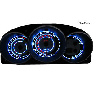 Add Gauge Overlay For 2003 2004 04 05 06 07 Madda 3 Cluster White Blue Mazda3