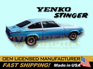 1971 1972 1973 Chevrolet Vega Yenko Stinger Decals Stripes Kit