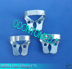 12 Endodontic Rubber Dam Clamp 29 Surgical Dental Instruments