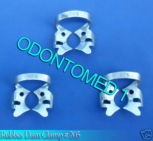 12 Endodontic Rubber Dam Clamp 205 Surgical Dental Instruments