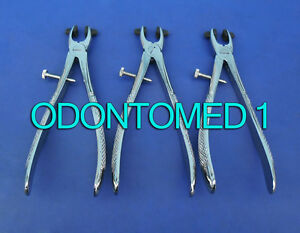 3 Crown Remover Upper Molar With Silicone Tips Dental Forceps