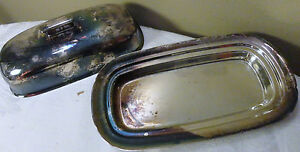 Vintage Reed And Barton 1142 Silver Plated Butter Dish Without Glass Liner