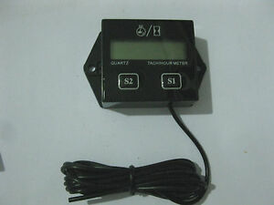 Digital Engine Tach Tachometer Hour Meter Gauge Inductive For Racing Motorcycle