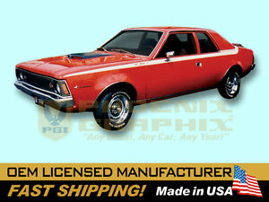 1971 Amc American Motors Hornet Sc 360 Decals Stripes Kit