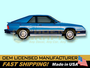 1983 1984 1985 1986 1987 Dodge Charger Shelby Decals Stripes Kit