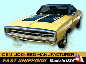 1970 Dodge Charger 440 Hemi Hood Numbers Decals Kit
