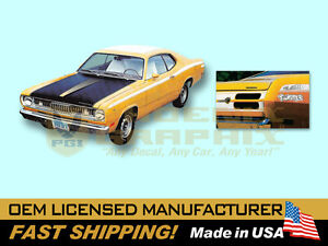 1971 1972 Plymouth Duster Twister W eyeballs Complete Decals Stripes Kit