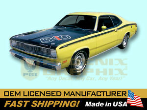 1971 1972 Plymouth Duster Complete Decals Stripes Kit Non 340