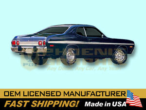 1973 1974 Dodge Dart Sport Sides Tail Panel Complete Decals Stripes Kit