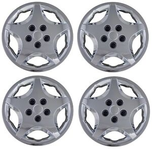 New 2000 2005 Chevy Cavalier 14 Hubcaps Wheelcover Chrome Set