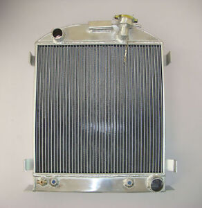 1933 1934 Aluminum Radiator Chevy Engine Ford Grill Shells 3 Row Stock Height 33