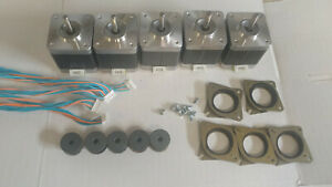 5 X Stepper Motor Nema 17 76 Oz in Cnc Mill Robot Reprap Makerbot Gt2 2mm P4v