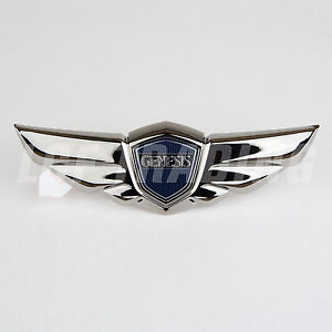 2008 2014 Hyundai Genesis Sedan Oem Tail Gate Wing Emblem Black Chrome Genuine