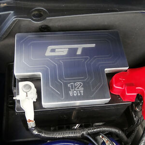 Mustang Billet Battery Cover Brushed Gt And 12v Engraved Fits 11 13 All