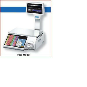Cas Cl5000r Label Printing Scale With Pole brand New Free Labels