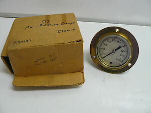 New Usg Us Gauge 0 3000 Psi Gold Back Mounted 28298