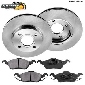 Front 278 Mm Brake Rotors And Metallic Pads 2000 2001 2002 2003 2004 Ford Focus