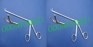 2 Cushing Pituitary Rongeurs 6 4mm up Ent Surgical Instruments