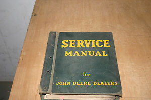 1960 s Original John Deere Service Manual In Original Jd Dealers Binder