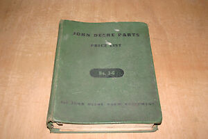 1958 Original John Deere Parts Price List In Original John Deere Binder