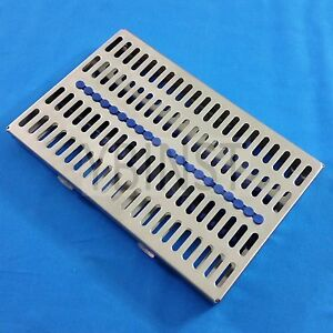 Stainless Sterilization Cassette Rack Box For 20 Surgical Dental Instruments