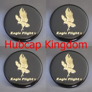 New Eagle Flight Wheel Simulator Rim Center Cap Sticker Decal 53mm 2in Set