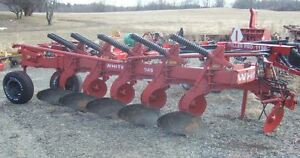 Oliver White 549 Moldboard Plows 5 Bottom 16 Spring Reset Side Hill Hitch