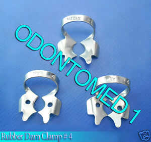 12 Endodontic Rubber Dam Clamp 4 Surgical Dental Instruments