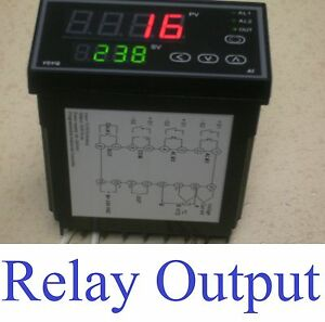 Pid Programmable Temperature Controller Kiln 50 Ramps Soaks Relay Output F C