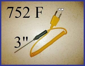 K Thermocouple Sensor Fit Fluke Amprobe Digital Thermometer