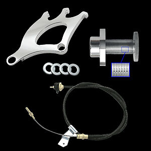 96 04 Mustang 3pc Clutch Cable Triple Pick Up Quadrant Firewall Adjuster Kit