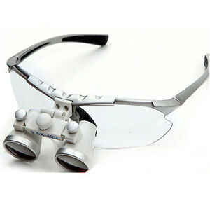 Silver Surgical Binocular Loupes 3 5 420mm Dental Optical Glass Loupe Quality Ce
