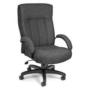 High Back Big And Tall Charcoal Manager Office Computer Chair