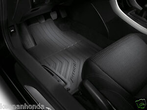 Genuine Oem Honda Accord 2dr Coupe Black All Season Floor Mat Set 2013 2017 Mats