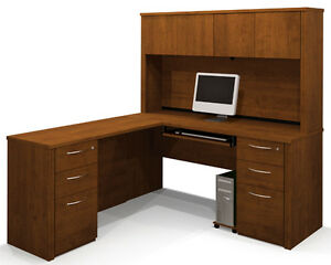 Bestar Embassy Executive L Shape Office Desk In Tuscany Brown
