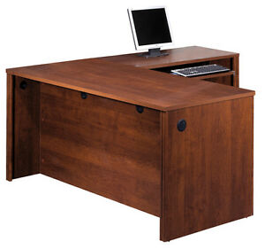Bestar Embassy Executive L Shape Office Desk In Tuscany Brown 60873 1463