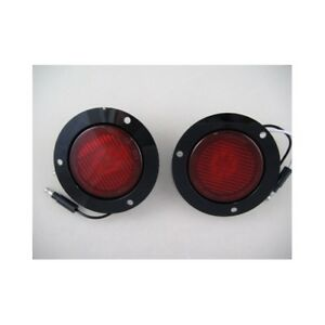 2 Red 2 5 Round 9 Led Custom Mini Stop Turn Brake Tail Lights