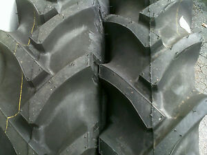 2 15 5x38 8ply R 1 Bar Lug Tube Type Farm Ag Tractor Tires Fit Oliver 880