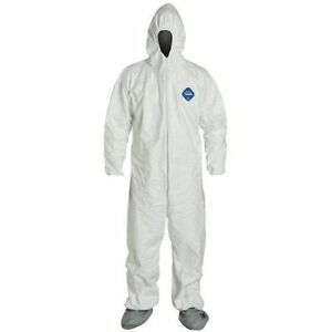 Dupont Ty122s xl Tyvek Coveralls Bunny Suit Case 25