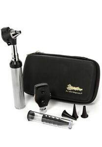 Ra Bock Diagnostics Led Fiberoptic Otoscope Ophthalmoscope Diagnostic Kit