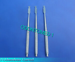3 Ochsenbein 1 Periodontal Dental Surgical Chisel Curved Instruments